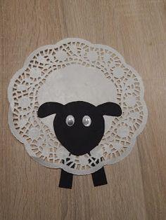 Kleines Schaf basteln. Super für kleine Kinder #f…