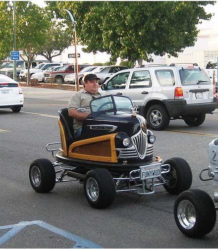 Street legal converted old bumper car by Tom Wright, near San Diego, CA