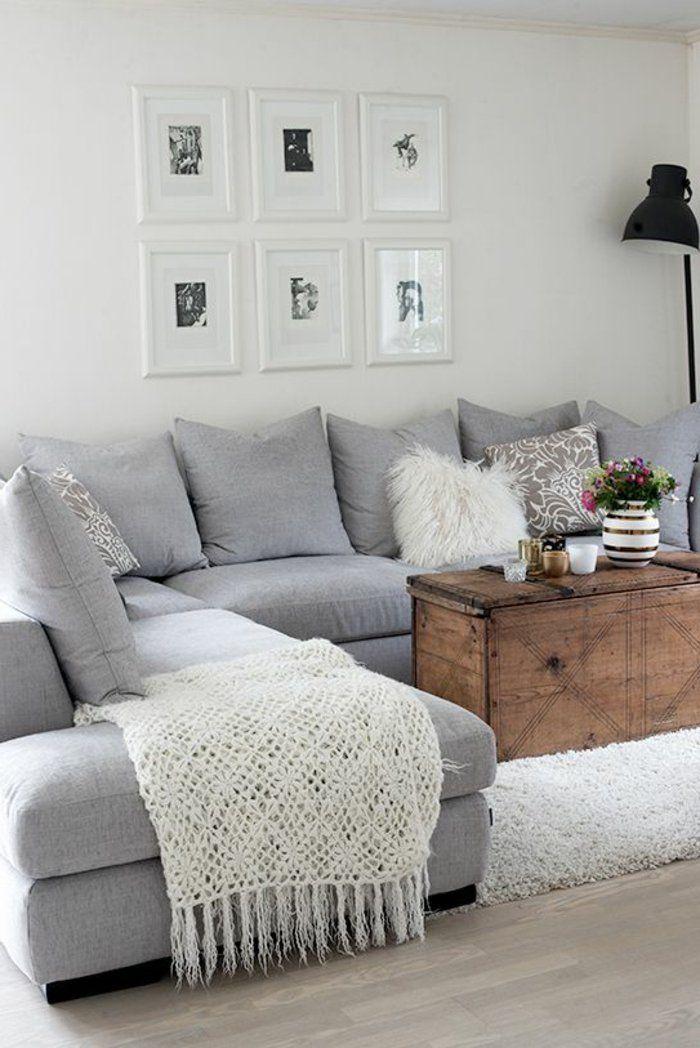 1 jet de canap pas cher blanc tricote pour votre canape d angle 700 1 048 pixels. Black Bedroom Furniture Sets. Home Design Ideas