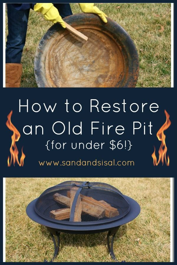 How to Restore an for Old Fire Pit under $6.00 !!