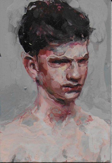 Geraldine Swayne, Small enamel painting on metal, aprox 6cm x 10cm on ArtStack #geraldine-swayne #art