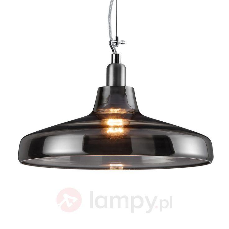 Szklana lampa wisząca Dover, przydymiony szary 9005106