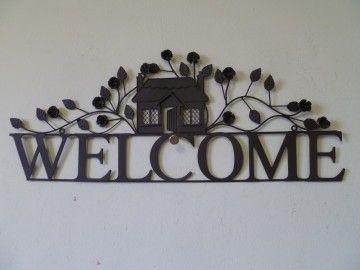 """Clayre & Eef welkomstbord """"Welcome"""""""
