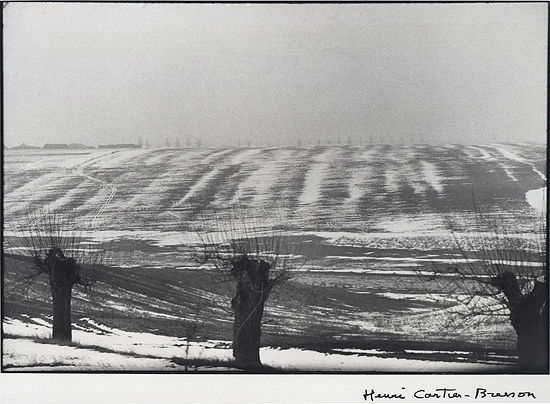 Henri Cartier-Bresson: Hungary (Winter Scene With Three Trees), 1964.