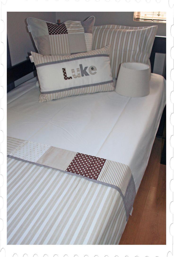 "Gender neutral kids bedding - ""Cookies 'n Cream"" duvet set & accessories made by Tula-tu Baby Linen"
