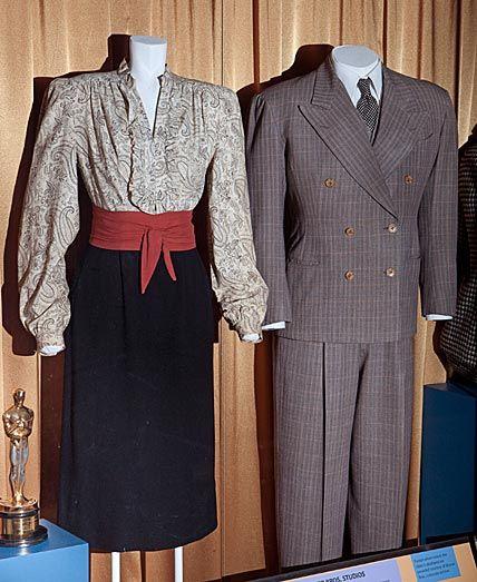 Costumes wore by Ingrid Bergman and Humphrey Bogart in Casablanca