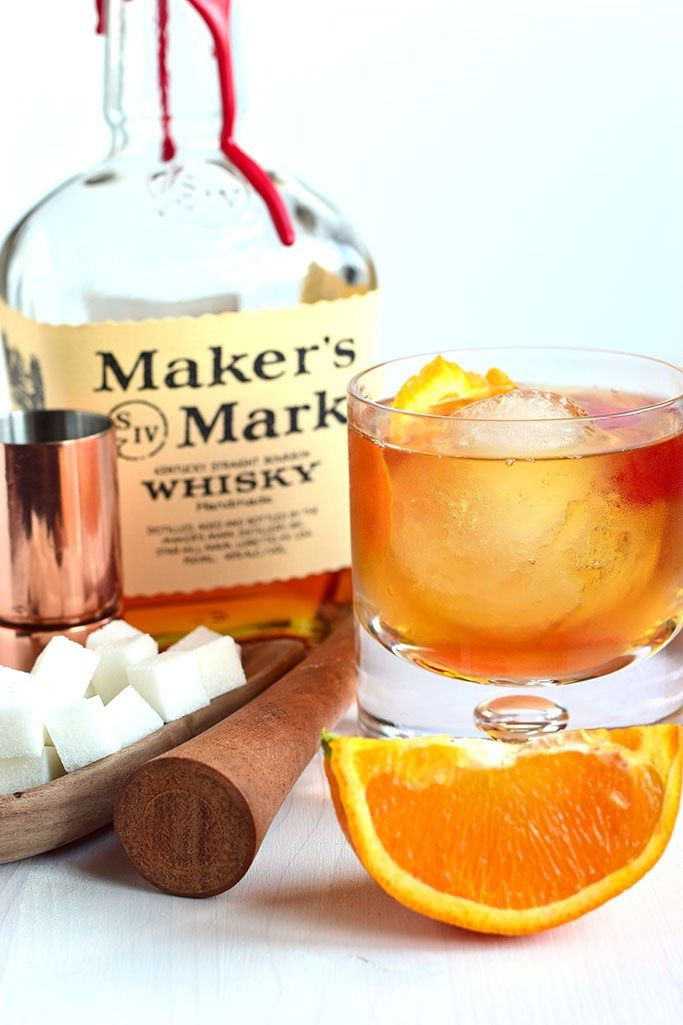 The Old Fashioned bourbon cocktail recipe. Make this delicious drink with your favorite whiskey and combine with sweet simple syrup, orange peel and cherry for garnish.