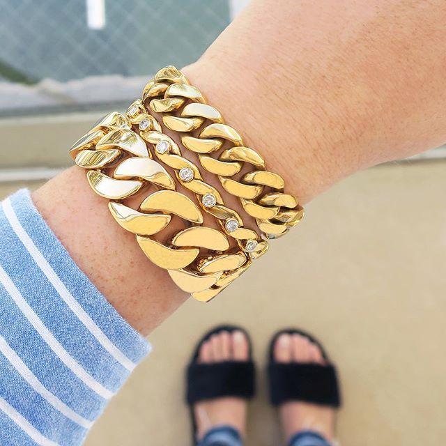 Beladora Curb Link Bracelet, Vintage Van Cleef & Arpels Diamond ...
