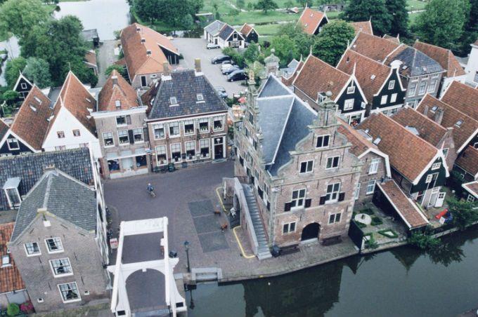 De Rijp vanuit de lucht gezien. ©  Foto: Provincie Noord-Holland.