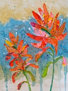 """Fine Art Collage artist who creates """"Paper Paintings"""" from torn bits of hand-made, hand-painted and found papers.: Paintings Inspiration, Collage Art, Art Inspiration, Art Journals, Art Flower, Art Ideas, Art Collage, Paper Paintings, Indian Paintbrush"""