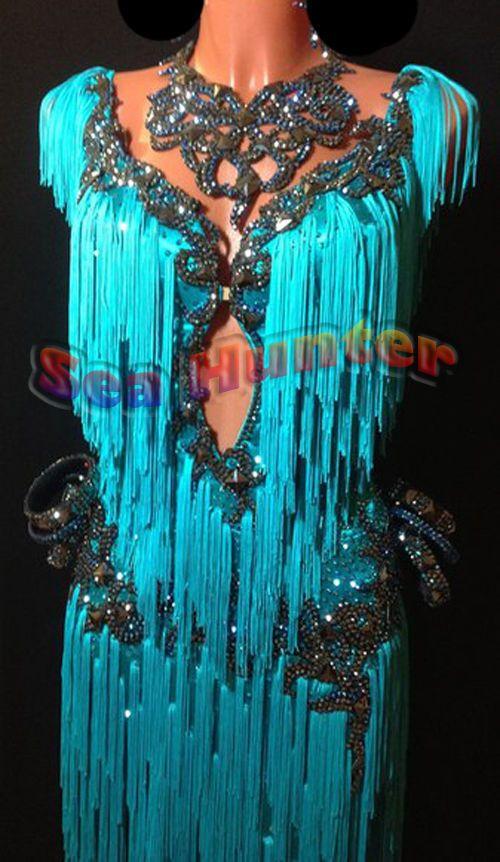 Competition Cha Cha Latin Ramba Dance Dress US 8 UK 10