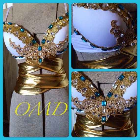Egyptian goddess rave bra/ halloween costume  by OriannaMdesigns, $90.00