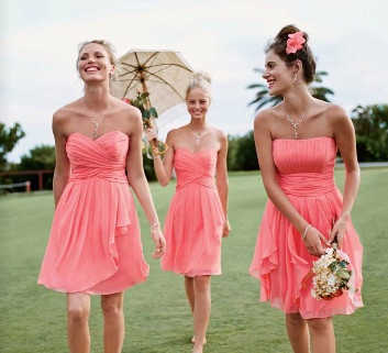 My bridesmaids dress on the far right. And the color!! :)