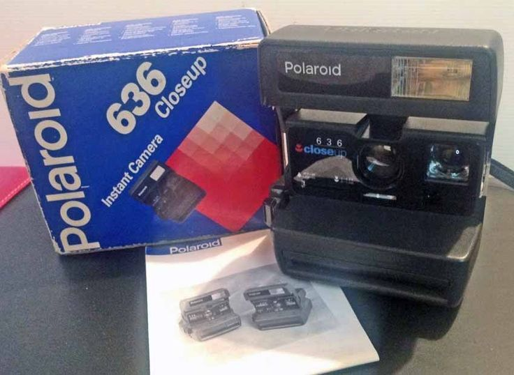POLAROID 636 Close Up with Box + Manual uses Instant Impossible Film 600 Working