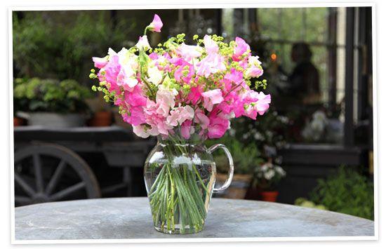 Flower arranging by vase   goop.com Great tutorial showing best types of arrangements for different shapes of vase