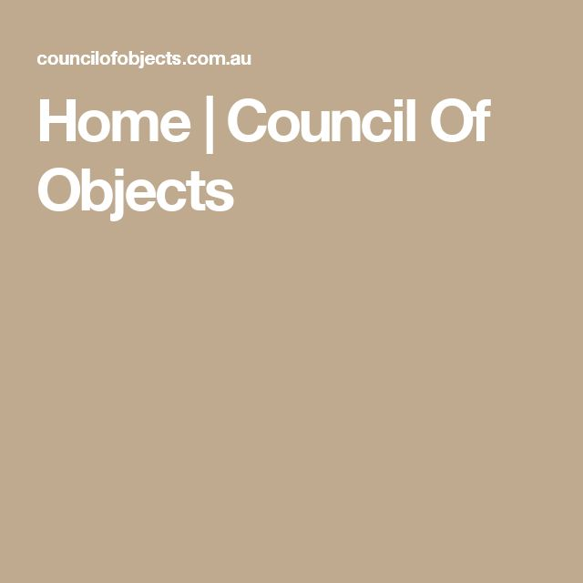 Home | Council Of Objects
