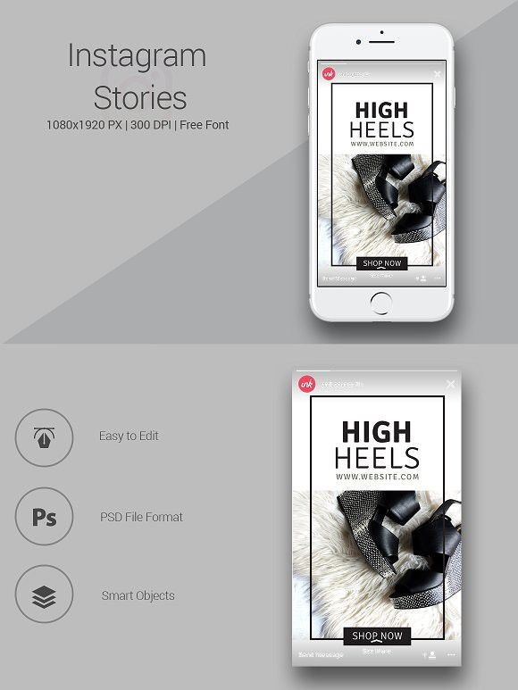Shoes Shop Instagram Stories  Marketing | Marketing Graphic Design