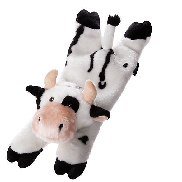 Top Paw Tuff Chewguard Calf Dog Toy Squeaker Dog Plush Toys