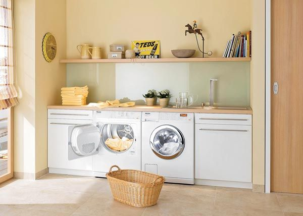 laundry wooden bench tops laundry makeover pinterest hauswirtschaftsraum. Black Bedroom Furniture Sets. Home Design Ideas