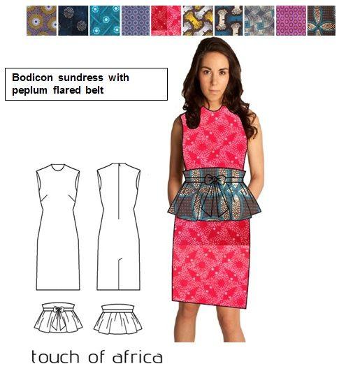 Bodicon sundress with peplum flared belt