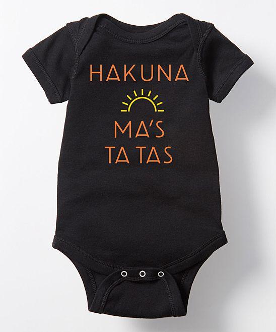 Black 'Hakuna Ma's Ta Tas' Bodysuit - Infant