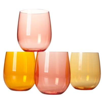 Target warm tone wine glasses $9/4