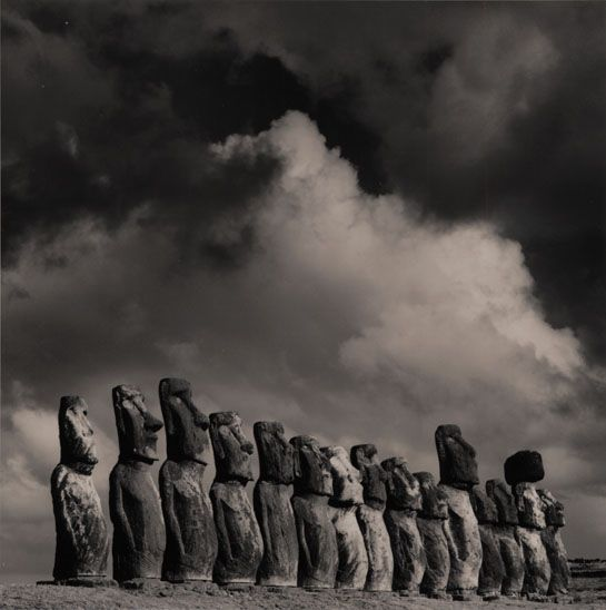Easter Island Moai, photo by Michael Kenna. Easter Island is worth a visit but only for for a day or two.