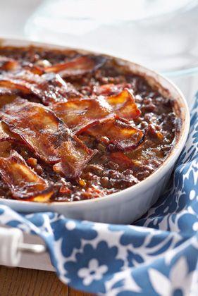 Ground Beef and Baked Beans Casserole Recipe ~ Deen Bros