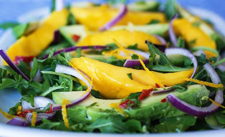 insalata rucola avocado mango