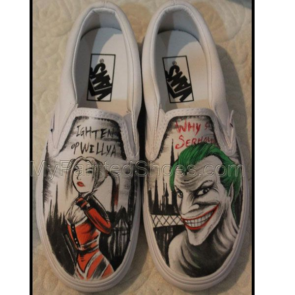 2f6d0fd000b9dd Harley Quinn and Joker Vans Shoes Harley Quinn Shoes