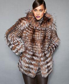 The Fur Vault Fox-Fur Hooded Jacket Yessssssssssss