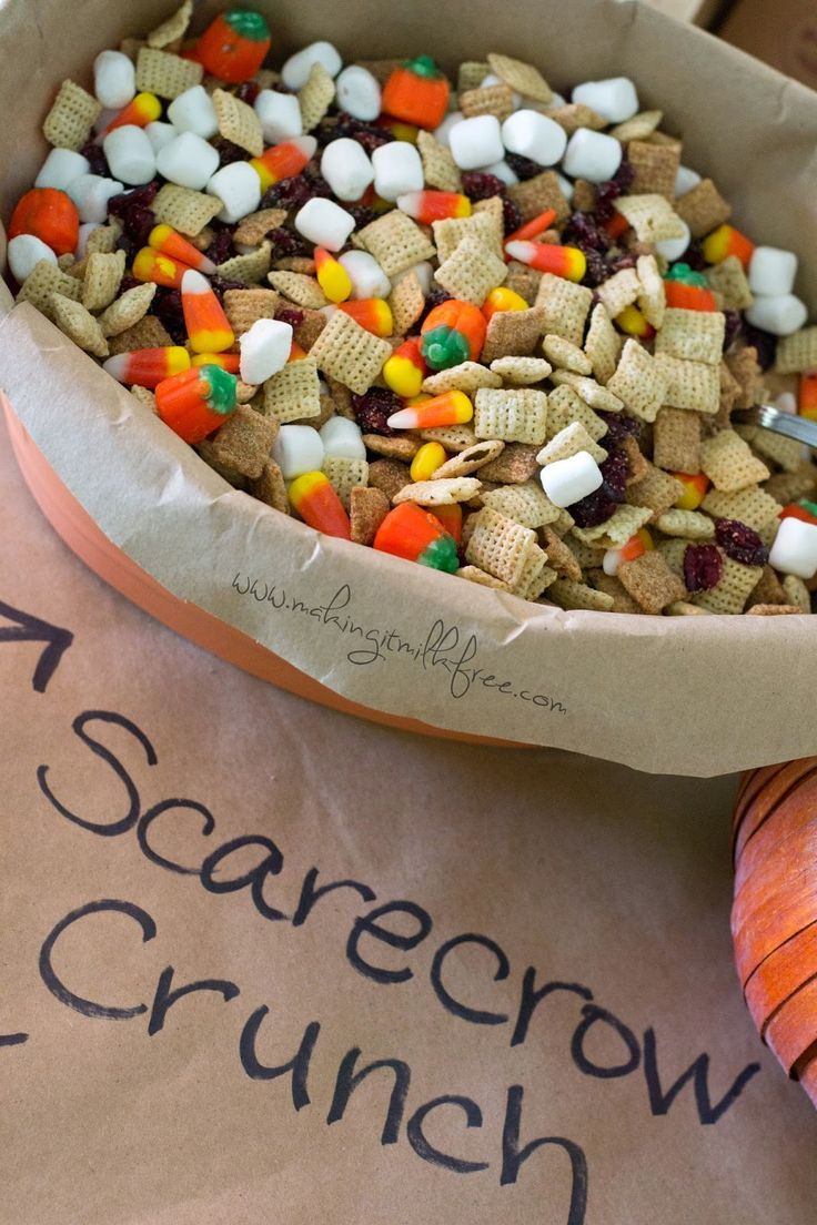 Scarecrow Crunch Trail Mix by Making it Milk-free