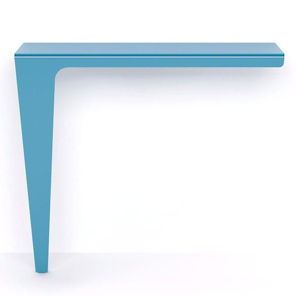 The Lama console table was designed by Carlo Trevisani for MEMEDesign. A superb example of Italian design, the slim table rests on a single support as if to defy gravity.