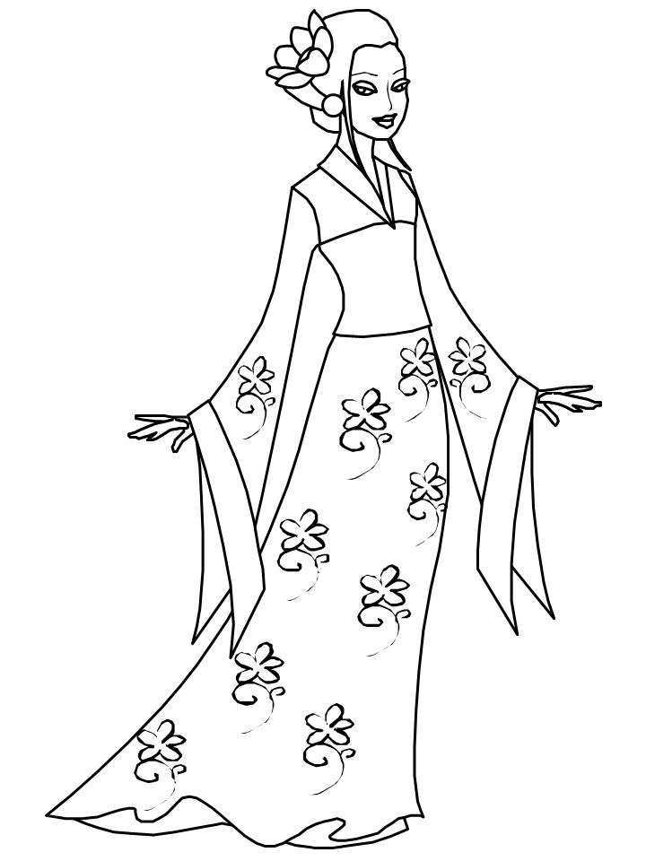 Western Boots Coloring Page Kimono
