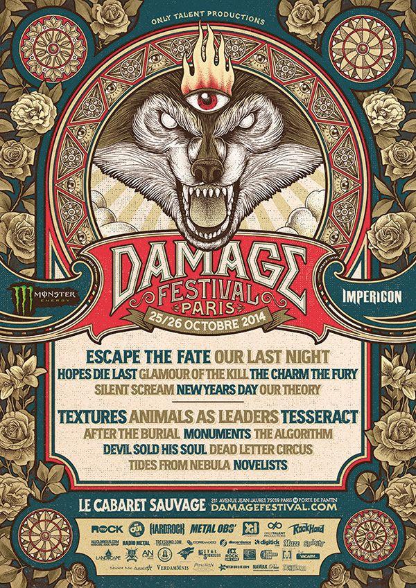 Damage Festival by Yeaaah! Studio, via Behance