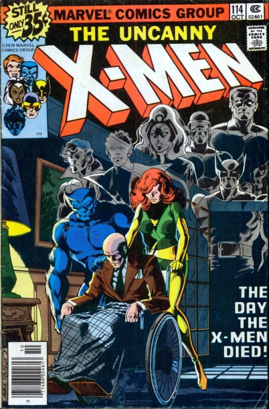 X-Men #114 cover by John Byrne & Terry Austin & Glynis Wein. 1978