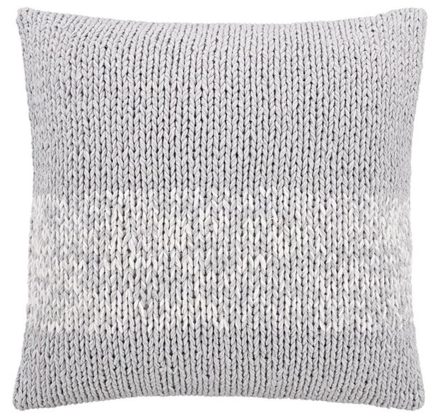 45cm x 45cm $59.95 Platinum, donelly cushion, Hand-knitted in 100% cotton