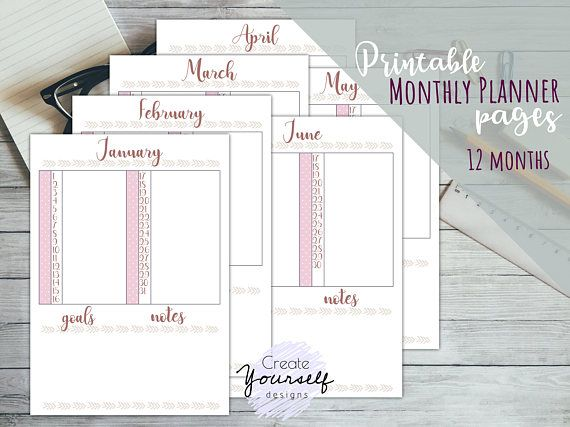 Check out this item in my Etsy shop https://www.etsy.com/listing/546144332/printable-planner-printable-bullet