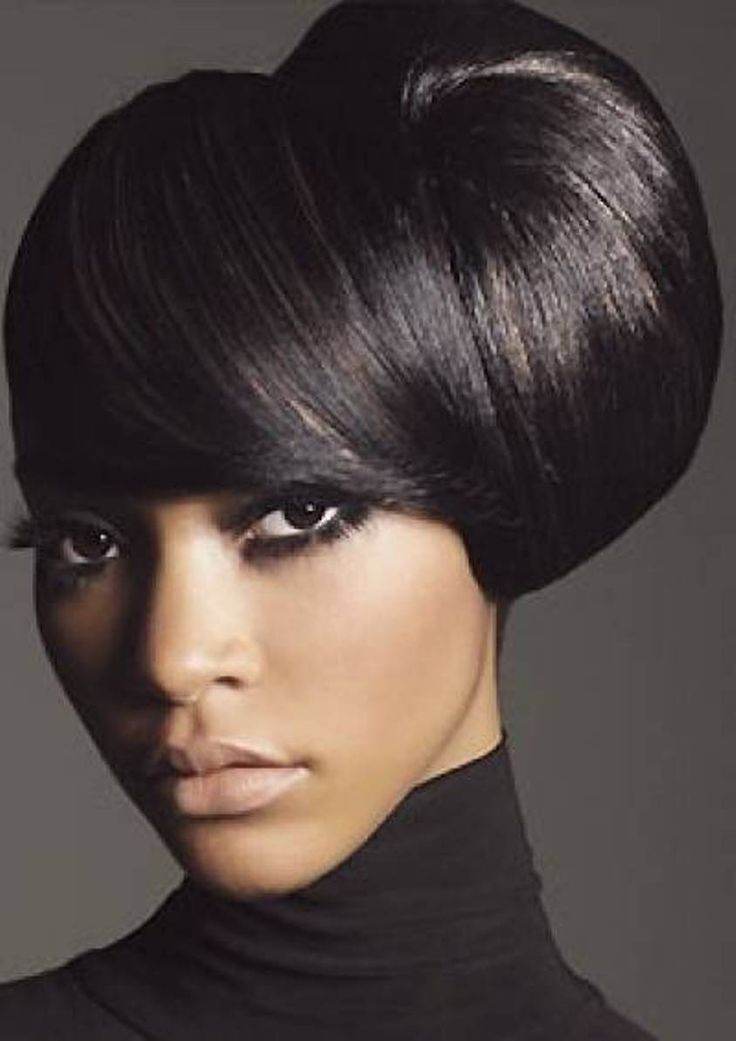 Side Updo Medium Hairstyles For African American Women - Medium ...