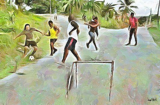 Wayne Pascall - Caribbean Scenes - Small Goal In De Street