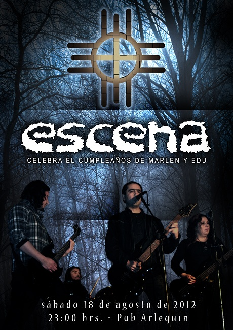 """Poster for Rock Band """"Escena"""". By REG."""
