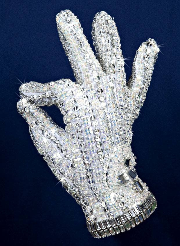 Michael Jackson's glove on show in London