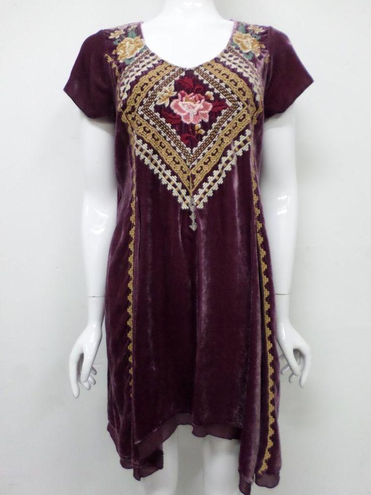 NWT Johnny Was JWLA Aralyn Velvet Drape Tunic Dress - S - JW60000917