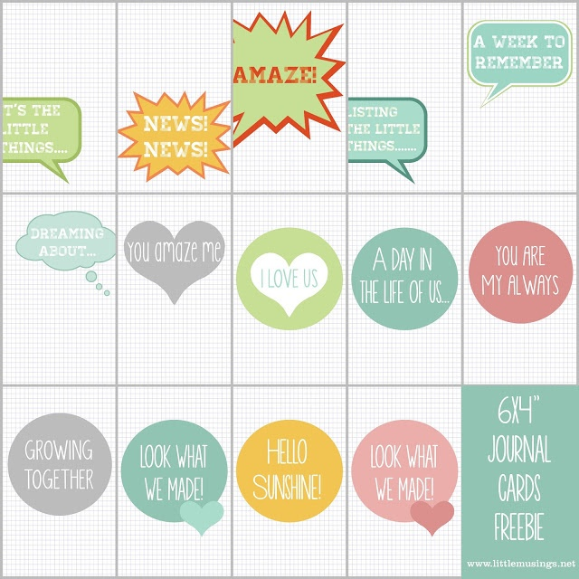 386 best Printable Journal Cards - Mostly free images on Pinterest