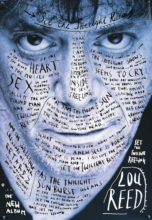 Lou Reed poster, 1996 click here: http://www.sagmeisterwalsh.com/work/project/lou-reed-poster/