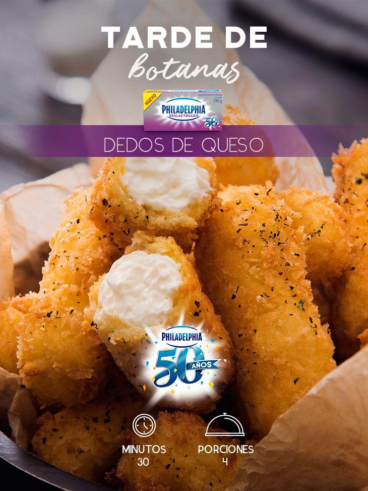 Ponte al día con tu mejor amiga mientras disfrutas estaos Dedos de queso con el nuevo Philadelphia Deslactosado.    #recetas #receta #quesophiladelphia #philadelphia #crema #quesocrema #queso #comida #cocinar #cocinamexicana #recetasfáciles #recetasPhiladelphia #recetasdecocina #comer #dedos #dedosdequeso #botanas #botana #recetabotana #empanizado #snack #deslactosado
