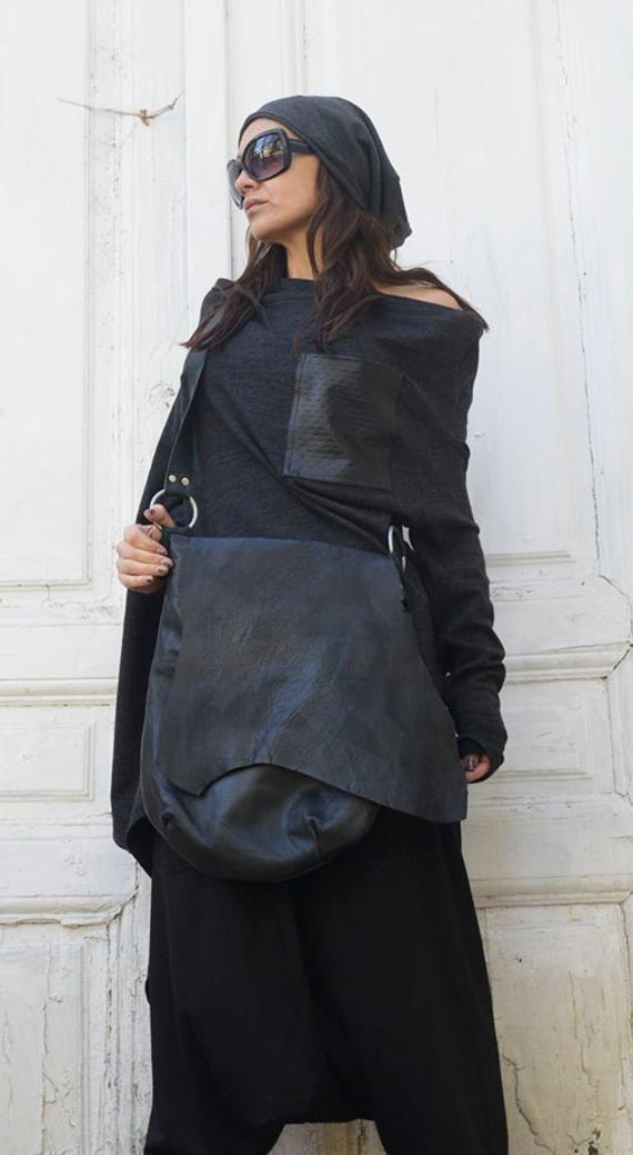 Genuine Leather Black Bag / High Quality Tote / Extravagant | Etsy