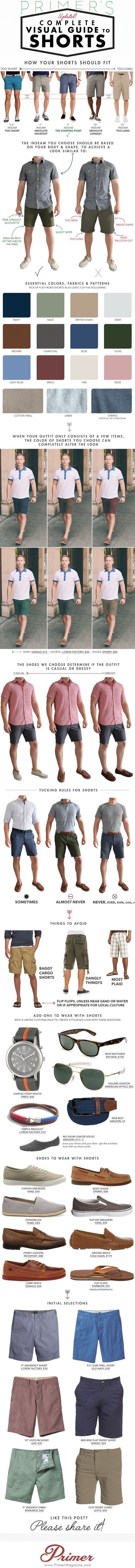 Stay cool and look smart this summer with our complete visual guide for all things shorts, covering fit and fabric to shoes and accessories.: