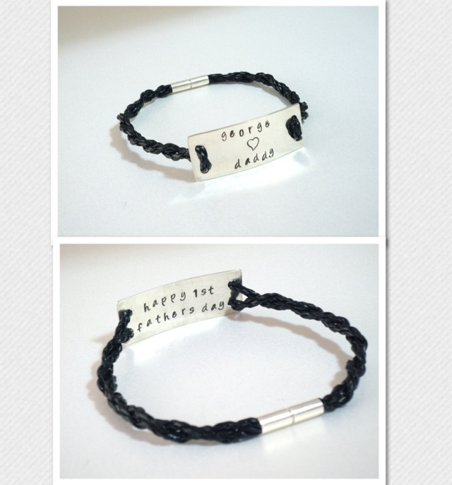 Sterling Silver Personalised Plaque Bracelet - Ideal Fathers day gif! - The Supermums Craft Fair