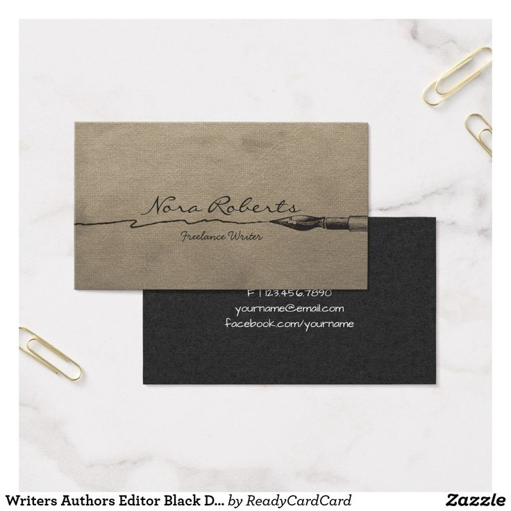 12 best Writer Business Cards images on Pinterest | Business cards ...